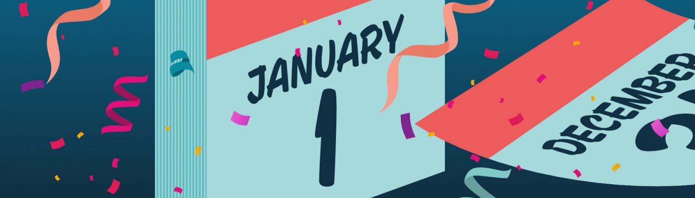 A calendar shows January 1